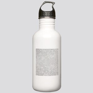 Silver Glitter Style Stainless Water Bottle 1.0L