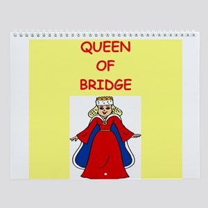 Women Bridge Players Wall Calendar