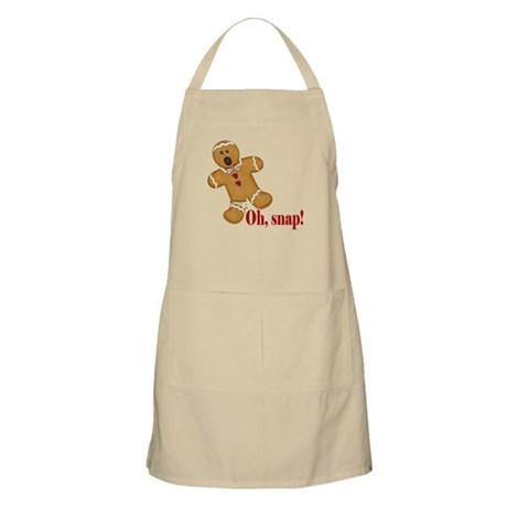 Oh Snap Gingerbread Man Christmas Apron