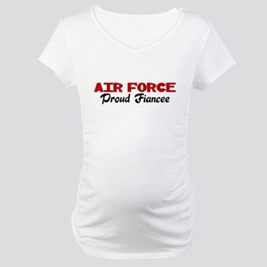 Air Force Fiancee (red) Maternity T-Shirt