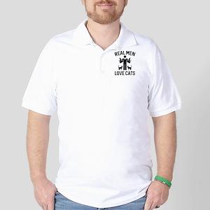 Real Men Love Cats Golf Shirt