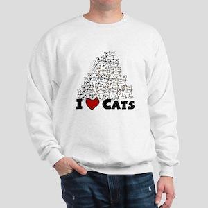 I Love CATS CUTE Sweatshirt