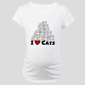 I Love CATS CUTE Maternity T-Shirt