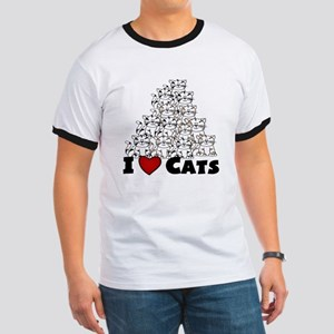 I Love CATS CUTE Ringer T