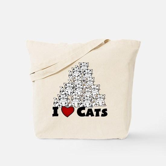 I Love CATS CUTE Tote Bag