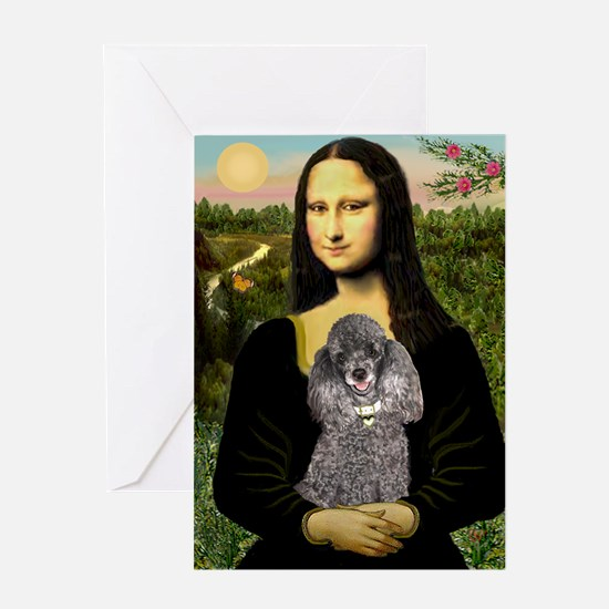 Mona / Poodle (s) Greeting Card