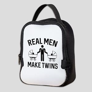 Real Men Make Twins Neoprene Lunch Bag