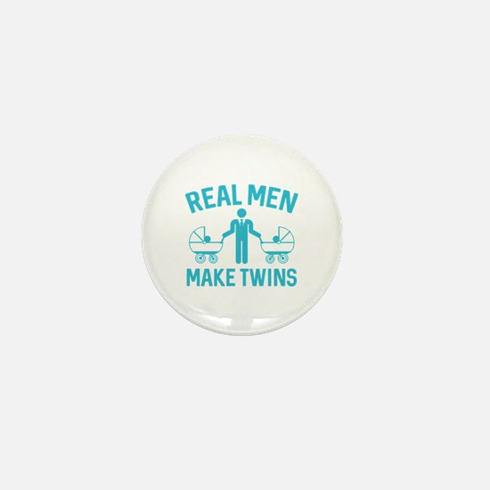 Real Men Make Twins Mini Button