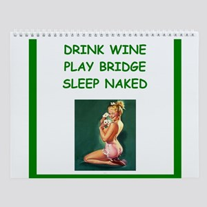 Sexy Bridge Players Wall Calendar