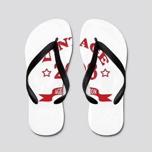 Vintage 2008 Aged To Perfection Flip Flops
