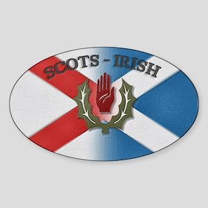 Scots-Irish Oval Sticker