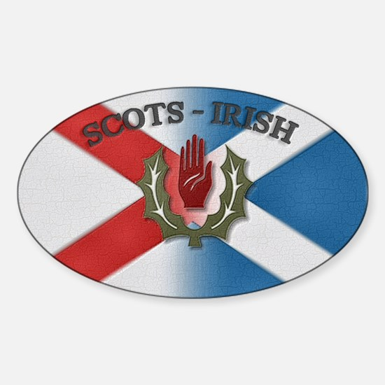Scots-Irish Oval Decal