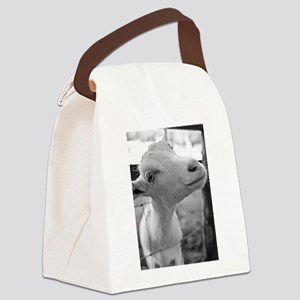Goofy Goat Canvas Lunch Bag
