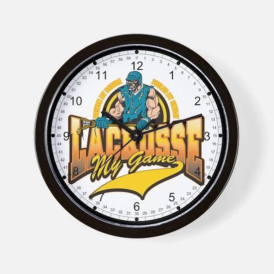 Lacrosse My Game Wall Clock