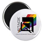 Stageq White Logo Magnets