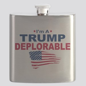 I'm A Trump Deplorable Flask