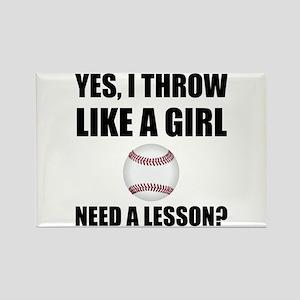 Like A Girl Baseball Magnets