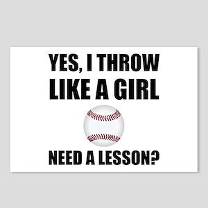 Like A Girl Baseball Postcards (Package of 8)