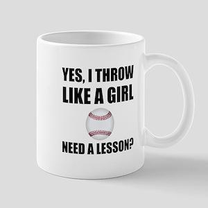 Like A Girl Baseball Mugs