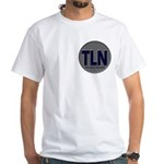Tln Double-Sided Print Men's White T-Shirt