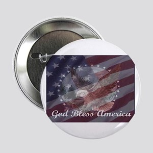 "God Bless America 2 2.25"" Button"