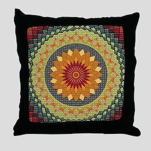 Lotus Zen Mandala Throw Pillow