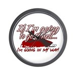 Going In My Way Wall Clock
