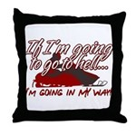 Going In My Way Throw Pillow