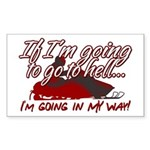 Going In My Way Rectangle Sticker