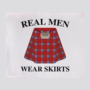 Real Men Wear Skirts Stadium Blanket