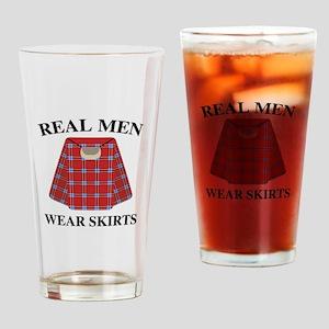 Real Men Wear Skirts Drinking Glass