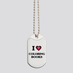 I love Coloring Books Dog Tags