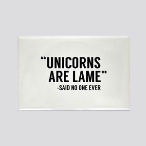 Unicorns Are Lame Rectangle Magnet