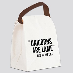 Unicorns Are Lame Canvas Lunch Bag