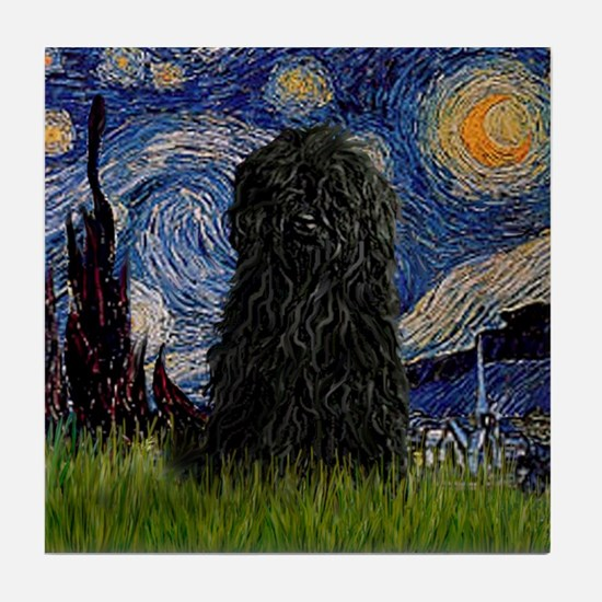 Starry Night / Puli Tile Coaster