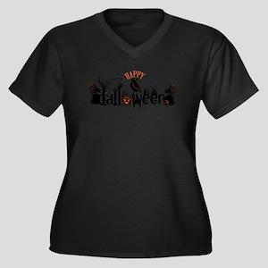 Happy halloween Black & orange S Plus Size T-Shirt