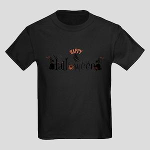 Happy halloween Black & orange Spooky Typo T-Shirt