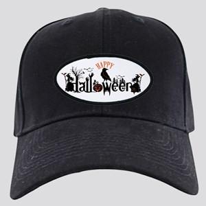 Happy halloween Black & orange Spooky Ty Black Cap