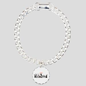 Happy halloween Black & Charm Bracelet, One Charm
