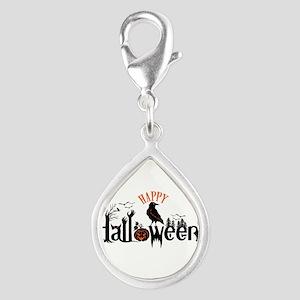 Happy halloween Black & orange Spooky Typog Charms