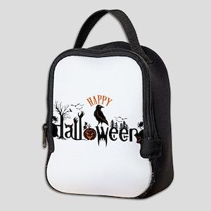 Happy halloween Black & orange Neoprene Lunch Bag