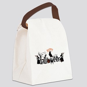 Happy halloween Black & orange Sp Canvas Lunch Bag