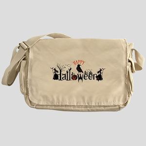 Happy halloween Black & orange Spook Messenger Bag