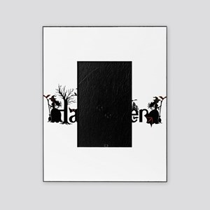 Happy halloween Black & orange Spook Picture Frame