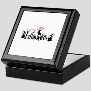 Happy halloween Black & orange Spooky Keepsake Box