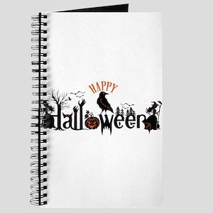 Happy halloween Black & orange Spooky Typo Journal