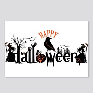 Happy halloween Black & o Postcards (Package of 8)