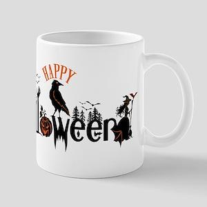 Happy halloween Black & orange Spooky Typogra Mugs