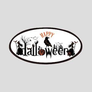 Happy halloween Black & orange Spooky Typogr Patch