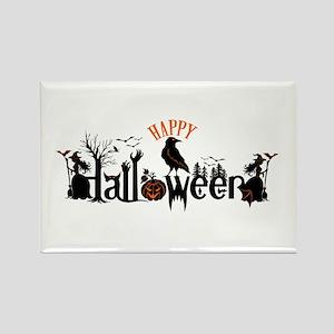 Happy halloween Black & orange Spooky Typo Magnets